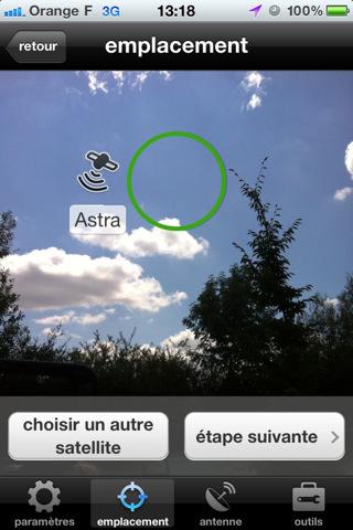 Réglage Parabole sous iOS