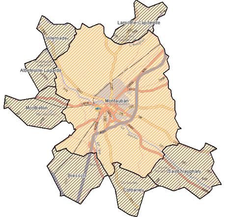 Plan déploiement agglomération Montauban FTTH