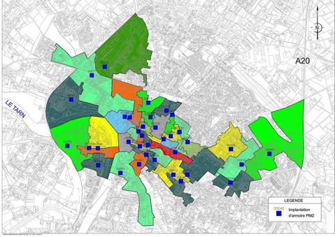 Couverture FTTH Montauban 2012