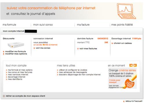 Espace Client Orange Internet