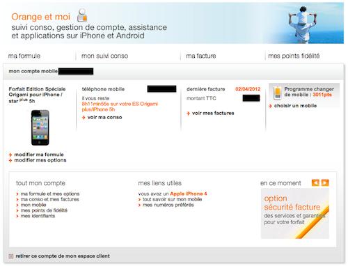 Espace Client Orange Mobile