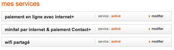 Services Minitel et Contact+