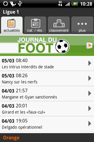 Ligue 1 Orange sur Android