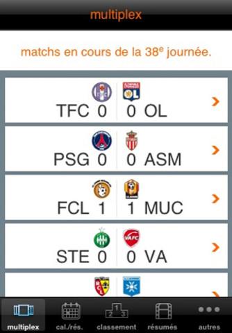 Ligue 1 Orange sur iOS