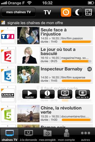 TV d'Orange sur iPhone