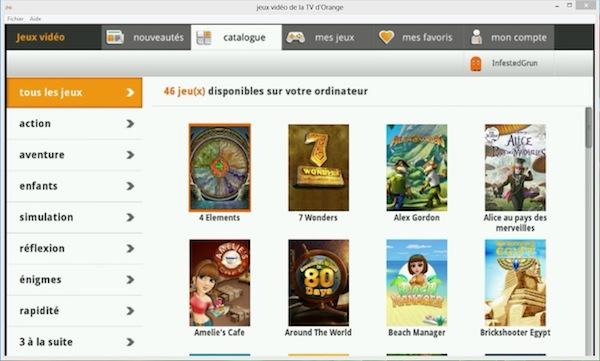 les jeux vid o de la tv d 39 orange sur ordinateur livebox news communaut orange et livebox. Black Bedroom Furniture Sets. Home Design Ideas