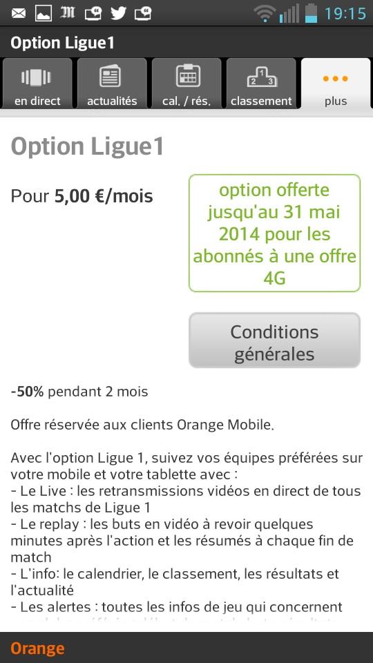 Ligue 1 2013/14 offert avec la 4G
