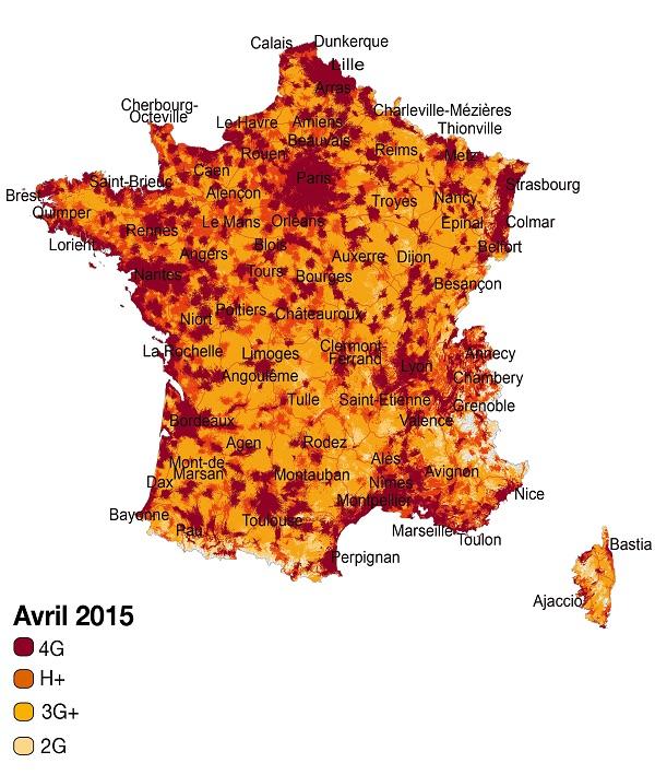 Carte du réseau mobile d'Orange